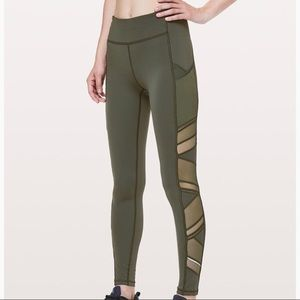 Lululemon speed up tight special edition green